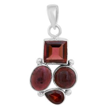 Red garnet pendants
