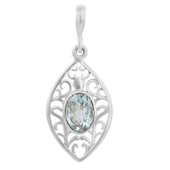 Blue topaz pendants
