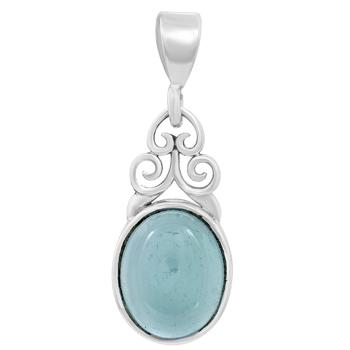 Blue chalcedony pendants