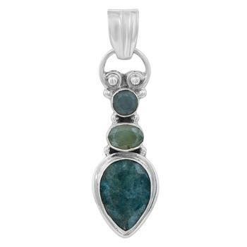 Green emerald pendants