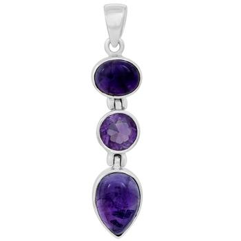 Purple amethyst pendants