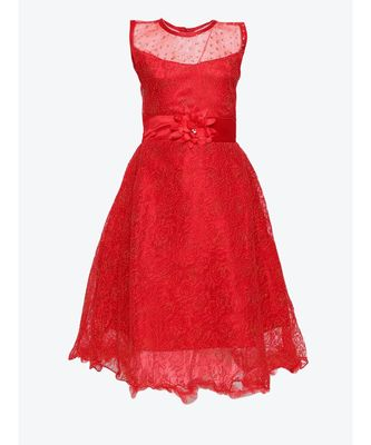 red net gown