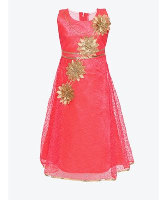 pink net gown