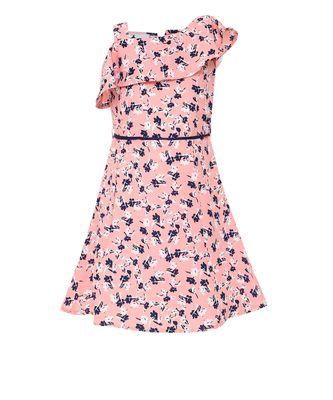 pink cotton blend frock