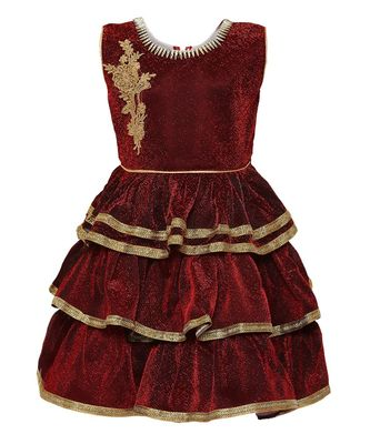 red nylon frock