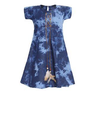 blue cotton frock