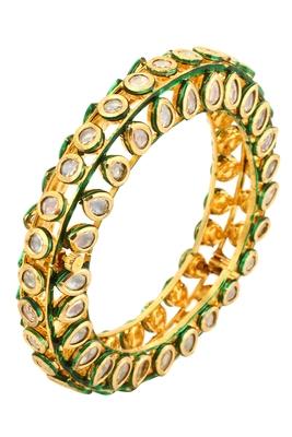 Gold kundan bracelets