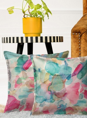 HOUZZCODE Set of 2 Abstract Square Cushion Covers