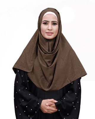Embossed Chiffon Square Scarf Hijab For Women