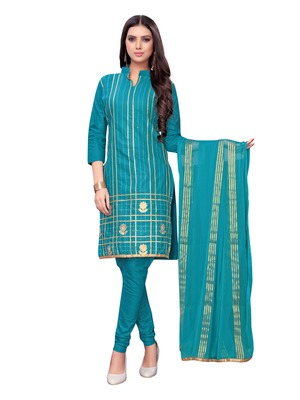 Blue gotta patti cotton salwar