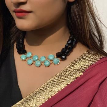 Black-Turquoise Stone Necklace