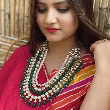 Multicolor Meenakari Beads  Necklace