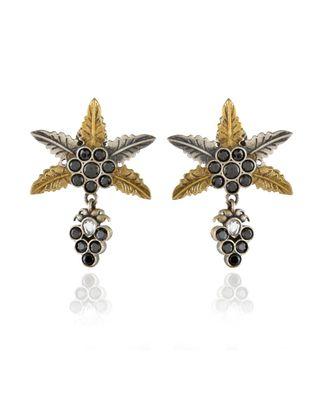 black star design cute small oxidised earring