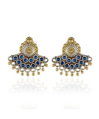 blue silver golden small cute stylish earring