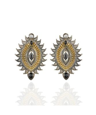 black silver golden smart look designer earring