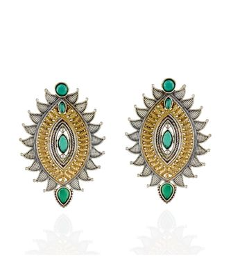 green silver golden smart look designer earring