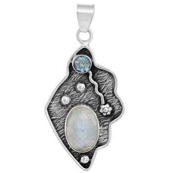 Multicolor moonstone pendants