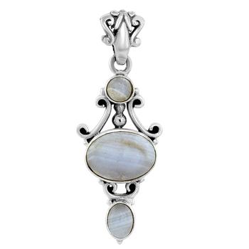 Blue agate pendants