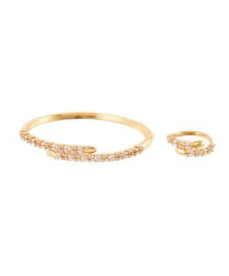 golden royal classy diamond bracelet ring combo special for valentine
