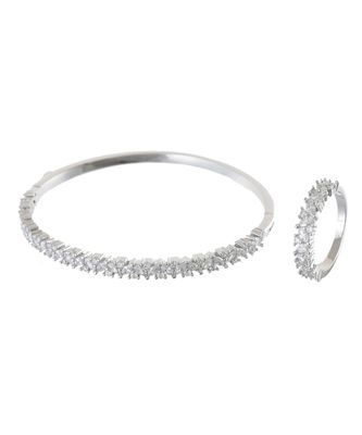 silver beautiful diamond bracelet ring combo special gift for valentine