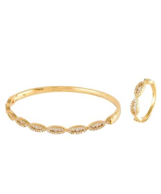 golden cute diamond bracelet ring combo special gift for valentine