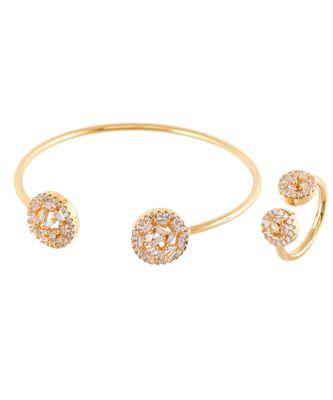 golden elegant diamond bracelet ring combo special gift for valentine