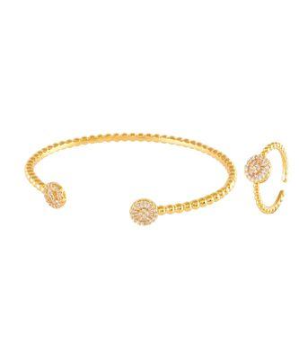 golden cute n elegant daimond bracelet ring combo special gift for valentine