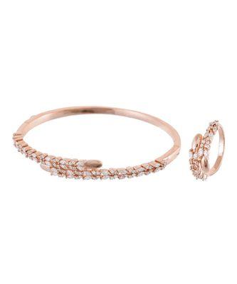 rosegold royal classy diamond bracelet ring combo special for valentine