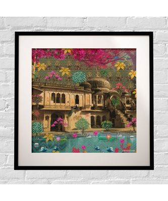 Beautiful Rajasthani Haveli Framed Art Print