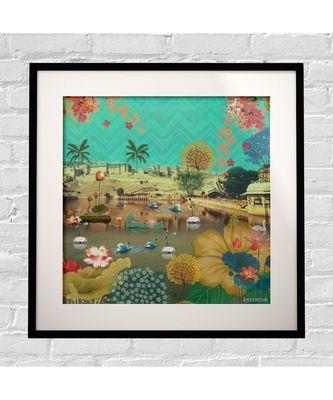 Beautiful Lakeside Framed Art Print