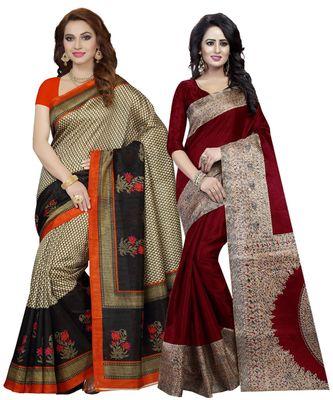 Women's Silk Saree With Blouse Piece (Combosr-5059_Multi-Coloured)