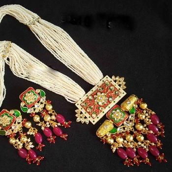 Royal Red Kundan Necklace Sets