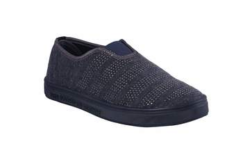 Women-grey  slip on casual shoes