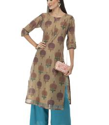 Women multicolor printed art silk kurti