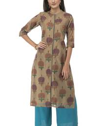 Women multicolor Embroidered Silk Blend kurti