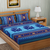 Blue Color Cotton Double Abstract Print Bedsheet