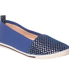 women Synthetic Blue Shoes