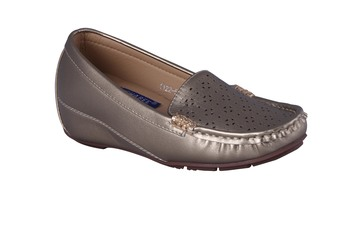 Women grey  slip on loafers