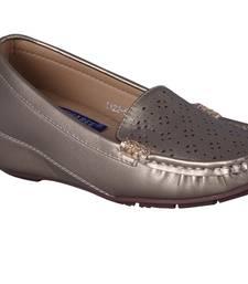 Women grey  slip on loafers