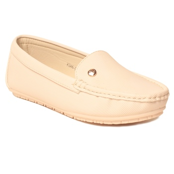 women Synthetic White Loafers