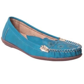 women Synthetic Blue loafers