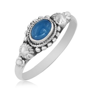 Multicolor Chalcedony 925 Sterling Silver Rings