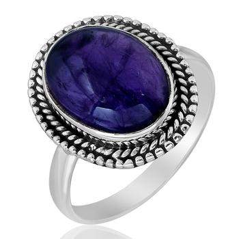 Purple amethyst 925-sterling-silver-rings