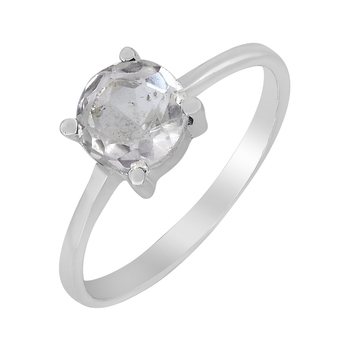 White crystal 925-sterling-silver-rings