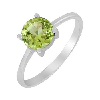 Green peridot 925-sterling-silver-rings
