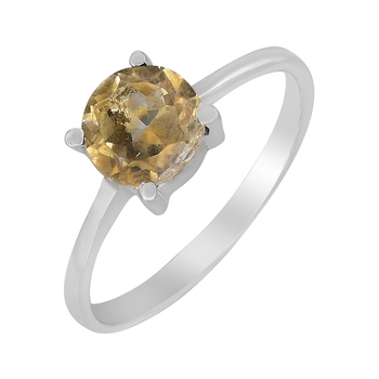 Yellow Citrine 925 Sterling Silver Rings