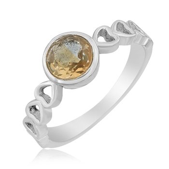 Yellow citrine 925-sterling-silver-rings