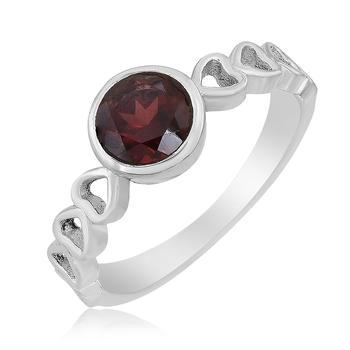 Red Garnet 925 Sterling Silver Rings