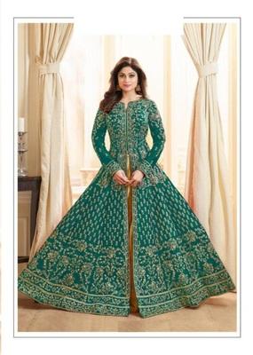 Light-green stone cotton knitted salwar