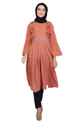 Pretty in Peach Dress By Ruqsar
